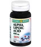 Natures Bounty Alpha Lipoic Acid 100 mg Capsules 30ct