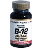 Windmill Vitamin B-12 250 mcg Tablets 100ct