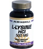 Windmill L-Lysine HCl 500 mg Tablets 120ct