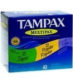 Tampax Flushable Multi-Pack 40ct