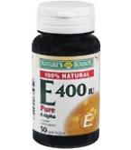 Natures Bounty Vitamin E 400 I.U. Pure D-Alpha - 50 Softgels- BACK ORDERED 8-13******MFG DISCONTINUED 2/17/14
