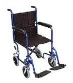 Roll Easy 19 inch Transport Chair/Open Sides Black H1904B
