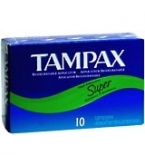 Tampax Flushable Super - 10****OTC DISCONTINUED 2/28/14