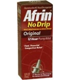Afrin Nasal Spray No Drip Original Pump Mist 12 Hour 15mL