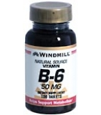 Windmill Vitamin B-6 50 mg Tablets 100ct