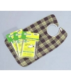 Bib Deluxe with Vinyl Back and Plaid front 18x30 C3045