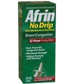 Afrin Nasal Spray No Drip Severe Congestion Pump Mist 12 Hour 15ml