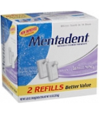 Mentadent Toothpaste Two Refills Advanced Whitening - 10.5oz