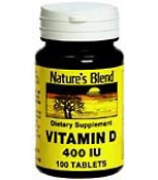 Natures Blend Vitamin D 400 I.U. Tablets 100ct