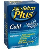 Alka-Seltzer Plus Cold Effervescent Tablets Sparkling Original 36 ct****OTC DISCONTINUED 3/3/14