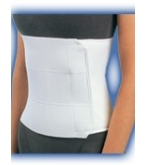 Abdominal Support White Small/Medium-Bell Horn