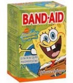 Band-Aid Bandages SpongeBob SquarePants Assorted Sizes - 20
