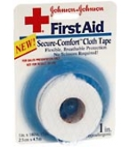Johnson & Johnson First Aid Secure-Comfort Cloth Tape  1 in x 5 YD