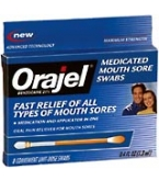Orajel Mouth Sore Swabs 8 Each