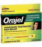 Orajel Toothache Swabs 12 Each