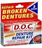 D.O.C. Denture Repair Kit 3 Each