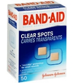Band-Aid Bandages Clear Spots  - 50