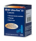 BD Ultrafine 33 Gauge Lancets 100/Box