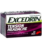 Excedrin Tension Headache Caplet Aspirin Free 24ct