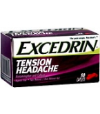 Excedrin Tension Headache Caplet Aspirin Free 50ct