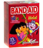 Band-Aid Bandages Dora The Explorer Assorted Sizes  25ct****OTC DISCONTINUED 3/5/14