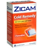 Zicam Cold Remedy Chewables Strawberry 25 ct***MFG DISCONTINUED 2/26/14