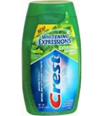 Crest Whitening Expressions Toothpaste Liquid Gel Extreme Herbal Mint - 4.6oz
