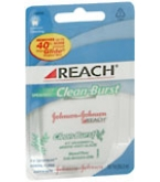 Johnson & Johnson Reach Clean Burst Waxed Floss Icy Spearmint 55 Yard