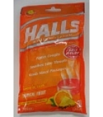 Halls Mentho-Lyptus Drops Triple Action Tropical Fruit - 30