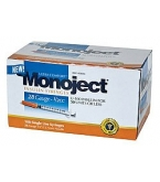 Monoject Ultrafine U-100 Insulin Syr 28 Gauge 1/2cc 1/2 inch Needle 100/Box