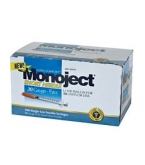 Monoject UltraComfort U-100 Insulin Syringe 30 Gauge 1/2cc 5/16 inch Needle 100/Box