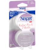 Nexcare Flexible Clear Tape 1 Inch X 10 Yards 2-Pack  20 YD