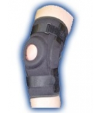 Knee Wrap Hinged Prostyle Black  With Open Patella Sm/Med-Bell Horn