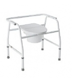 Commode Bedside Steel Extra Wide B355-Carex