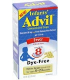 Advil Infants Concentrated Drops White Grape Flavored Dye-Free 0.5 oz