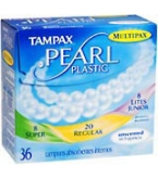 Tampax Pearl Tampons Plastic Multipax Unscented - 36