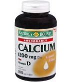 Nature's Bounty Calcium 1200mg Softgels Plus Vitamin D - 100