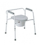 Carex Bedside Commode with Removable Back  B357-11