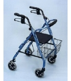 Excalibur Aluminum 4 Wheel Walker - Blue W1635B