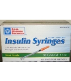 Insulin Syr U-100 30 Gauge 1cc  5/16 inch Needle  (GNP Brand) 100/Box
