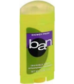 Ban Anti-Perspirant/Deodorant Invisible Solid Shower Fresh  2.6 oz