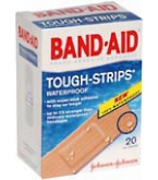Band-Aid Bandages Tough-Strips One Size - 20