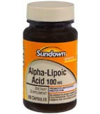 Sundown Alpha-Lipoic Acid 100 mg Capsules 60ct