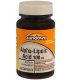 Sundown Alpha-Lipoic Acid 100 mg Capsules 60ct