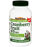 Sundown Cranberry Fruit 475 mg Capsules  200 ct