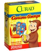Curad Bandages Curious George Assorted Sizes  20ct