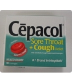 Cepacol Sore Throat & Cough Lozenge Mixed Berry 18ct