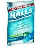 Halls Mentho-Lyptus Drops Sugar Free Assorted Mint  25 ea