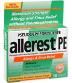 Allerest PE Tablets 18ct
