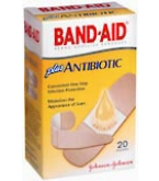 Band-Aid Plus Antibiotic Bandages Assorted Sizes  20ct****OTC DISCONTINUED 3/5/14